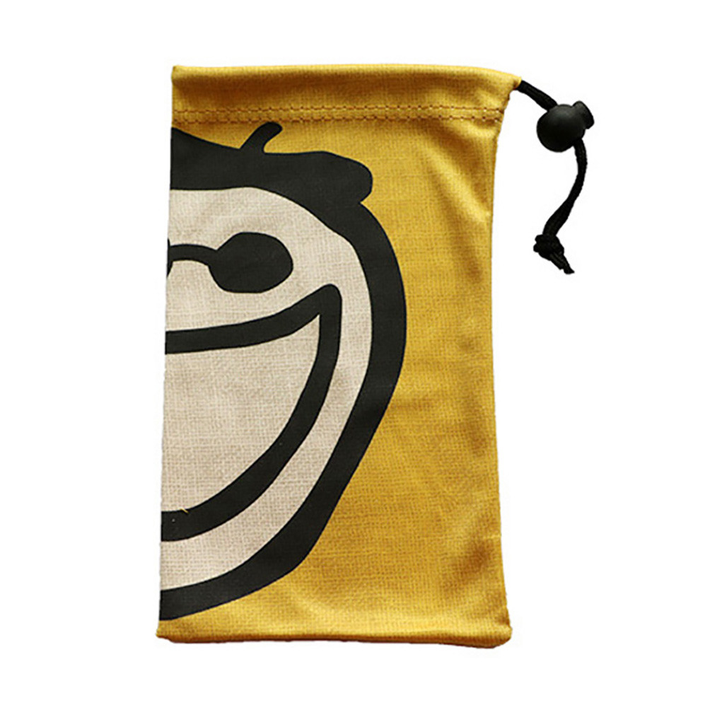 Wholesale Heat Transfer Printing Microfiber  Drawstring Glasses Pouch