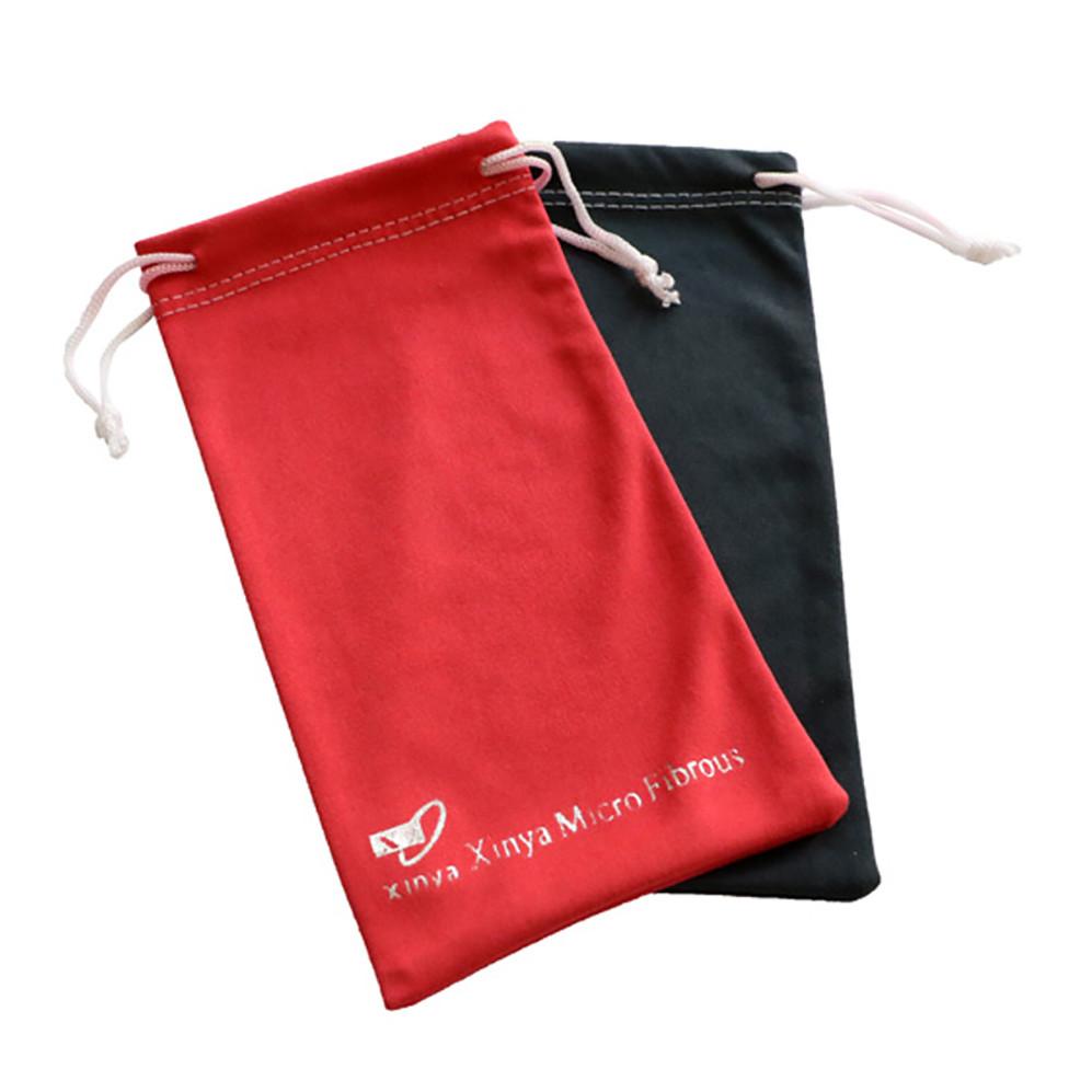 High Quality Logo Printed Soft Eyeglasses Bag Custom Logo Microfiber Sunglasses Pouch