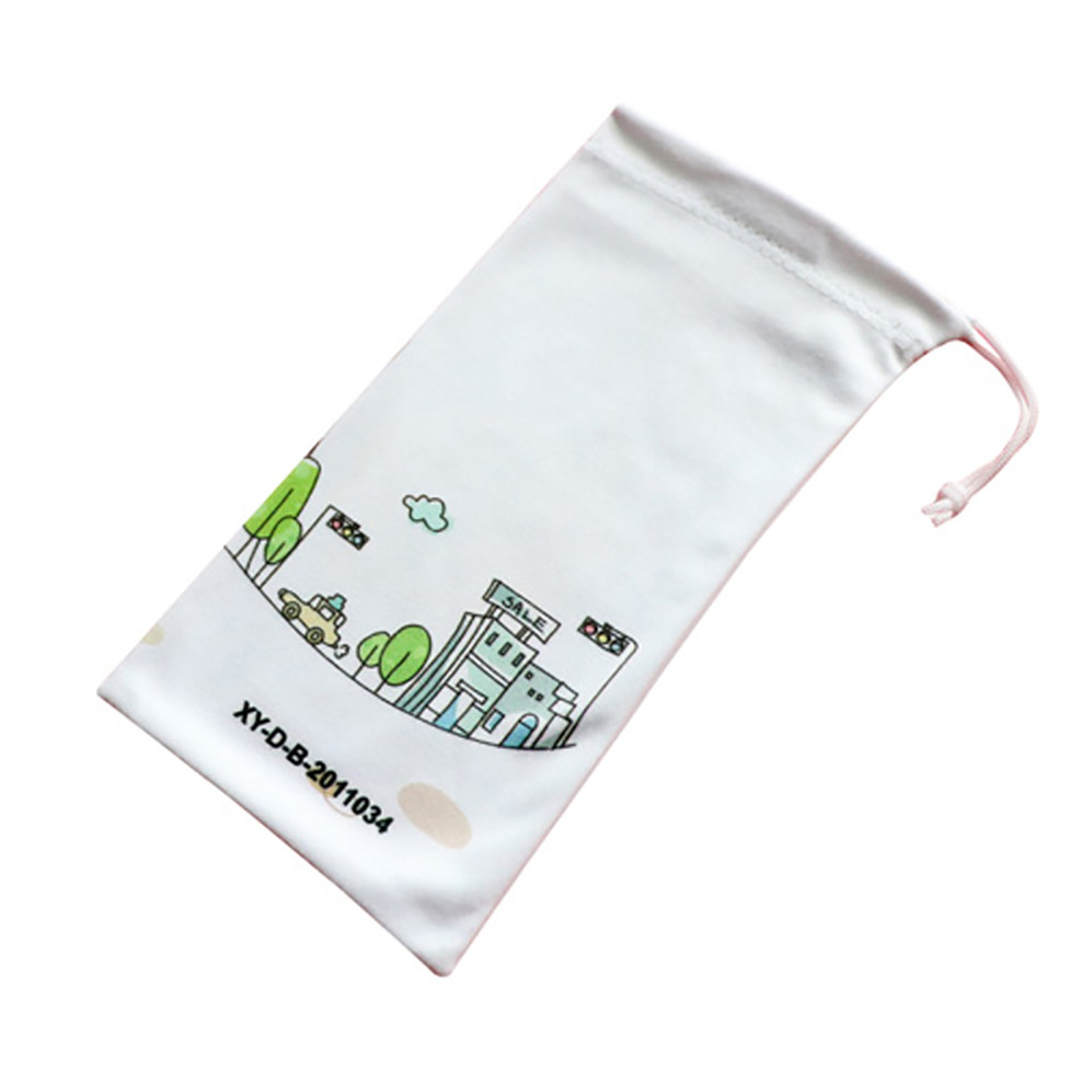 Custom  Logo  Printing  Widely  Used   Eyeglass Pouch  With Drawstring