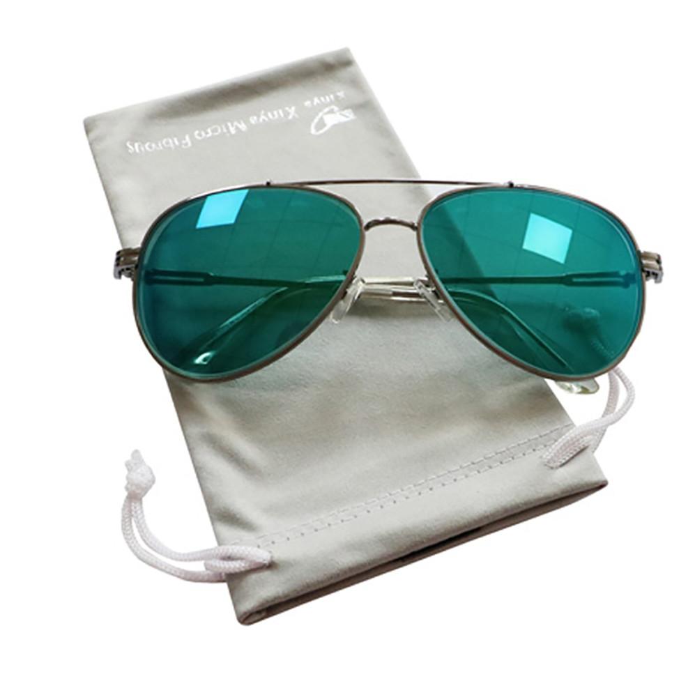 Custom Drawstring  Microfiber Glasses Pouch