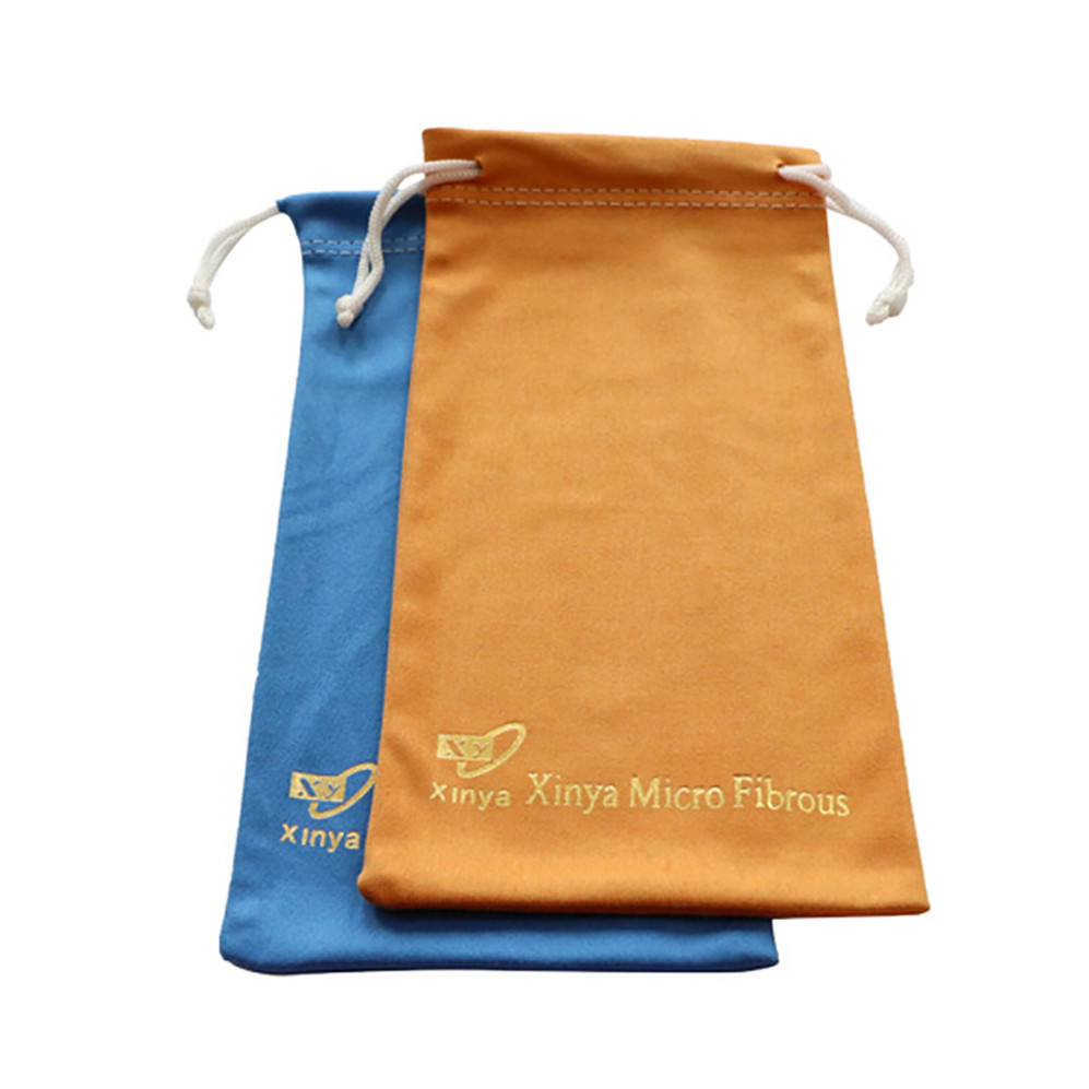 Size Customized Drawstring Soft Microfiber Sunglass Pouch