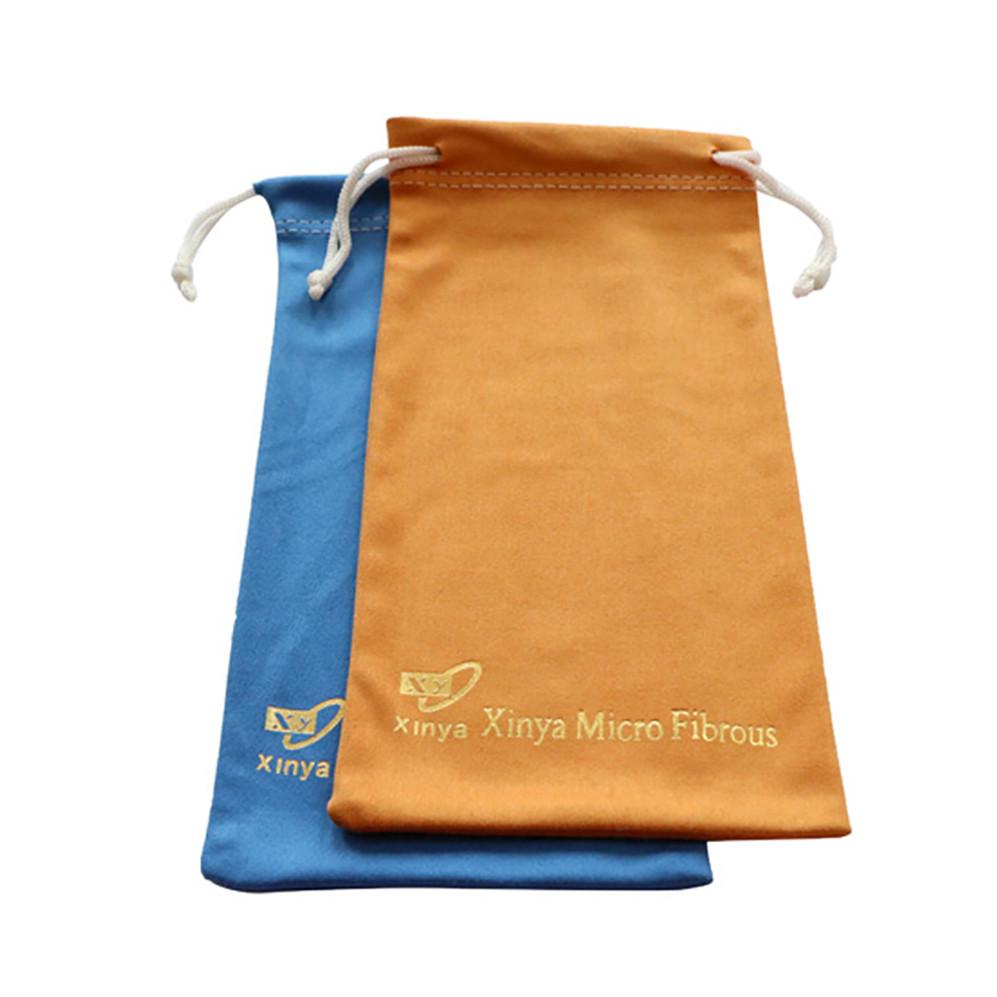 Size Customized Drawstring Soft Microfiber Sunglass Pouch