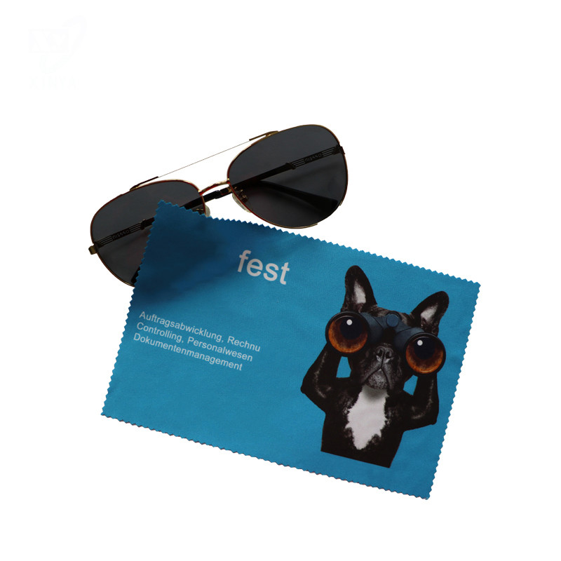 Custom Edge Cutting Microfiber Glasses Cloth