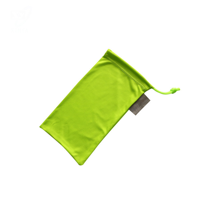Microfiber Drawstring Pouch With Wash Label
