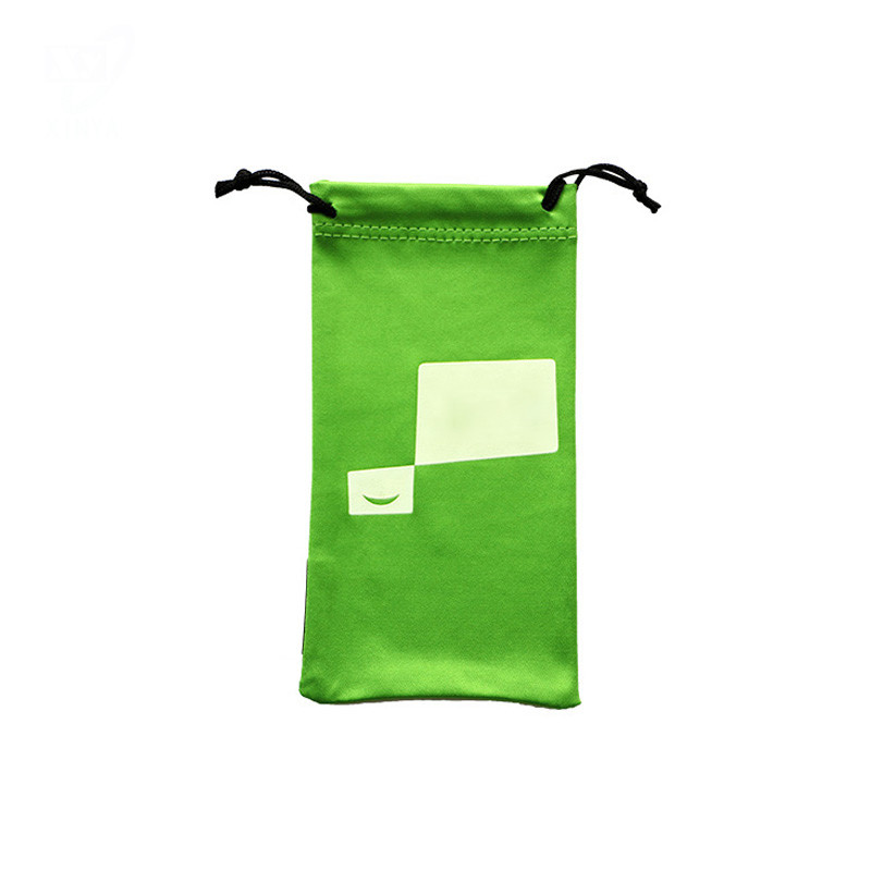 Custom Made Silk Screen Printed Microfiber Glasses Pouch