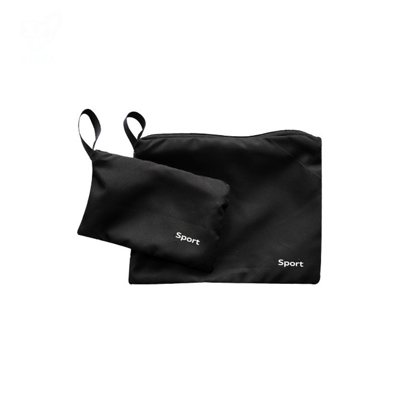 Soft Touch Microfiber Zipper Bag with Logo Printing