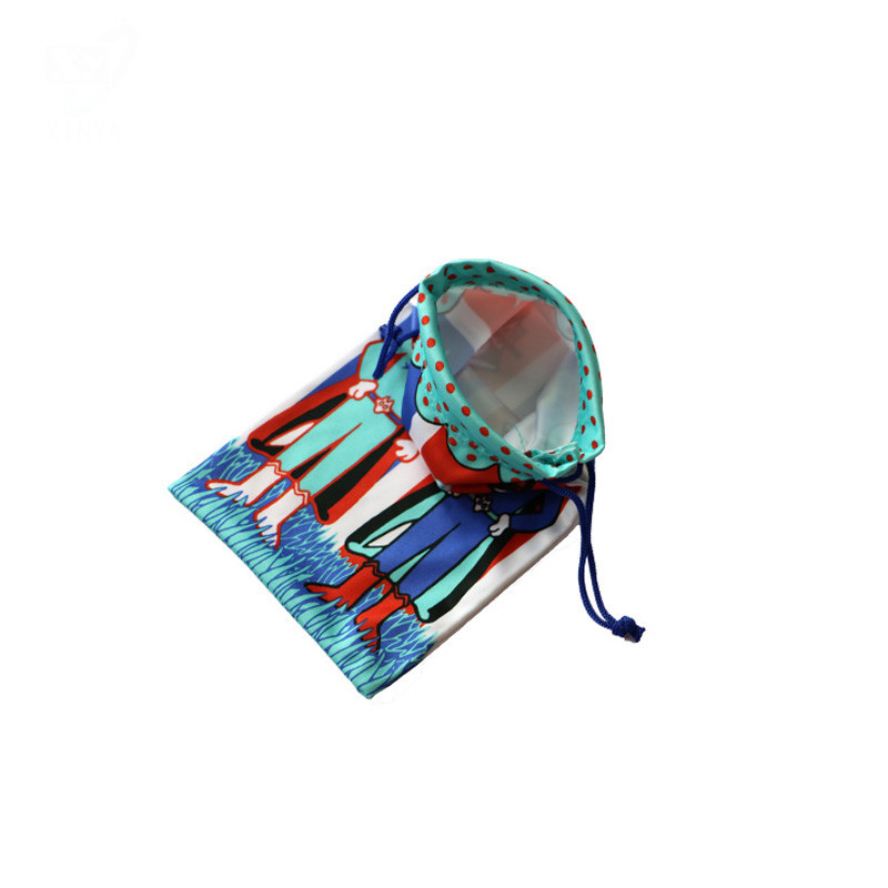 Custom Single-Side Drawstring Cell Phone Pouch and Microfiber Bag
