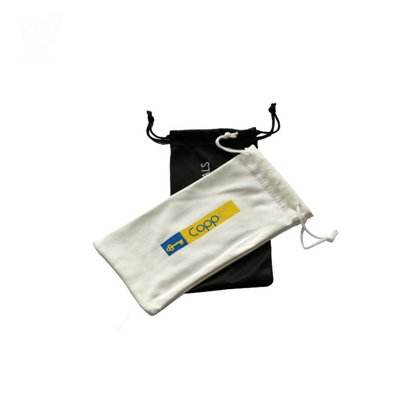 Double Side Drawstring Microfiber Printed Sunglasses Pouch