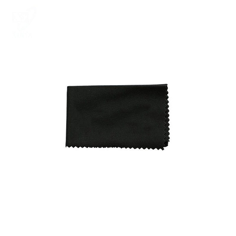 Custom Black Color Microfiber Wipe Cloth for Eyewear