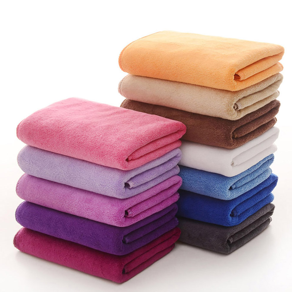 cotton towels and microfiber towels