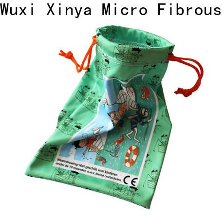 Xinya Custom microfiber drawstring eyeglass pouch small washing
