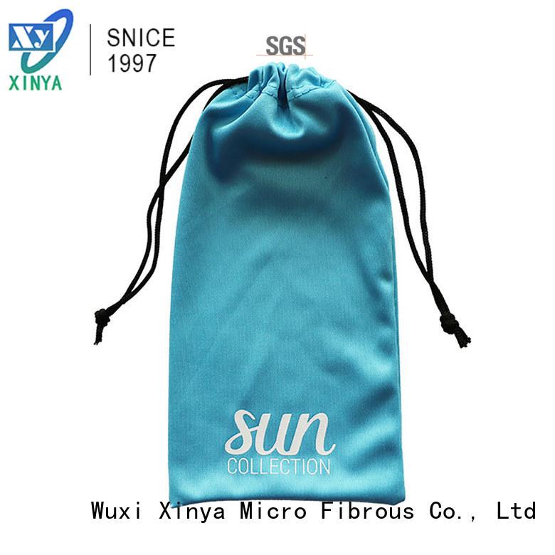 Xinya black microfiber tote bag small