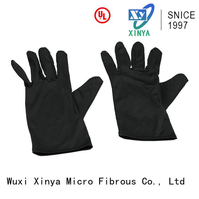 Xinya clean microfiber glove mitt large