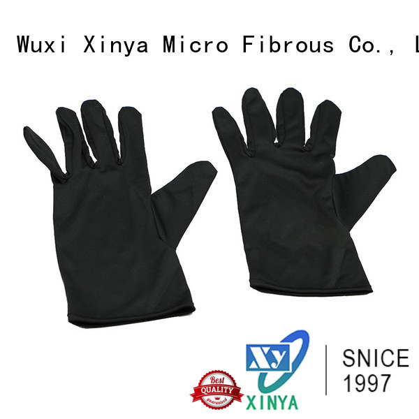 Xinya high quality microfiber jewelry gloves large cleaning